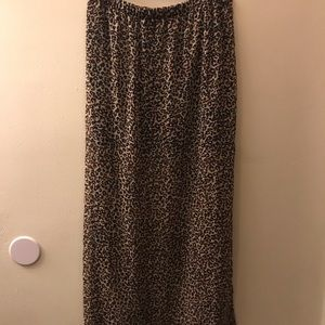 Sheer leopard maxi skirt with mini underneath
